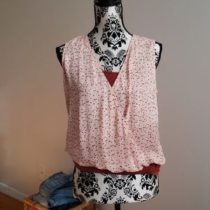 Blouse and tank set